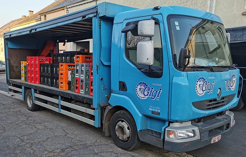 Camion brasserie Gigi Gérouville Province de Luxembourg